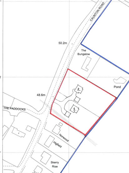 Planning sought to fill in the gap on Caunton Rd